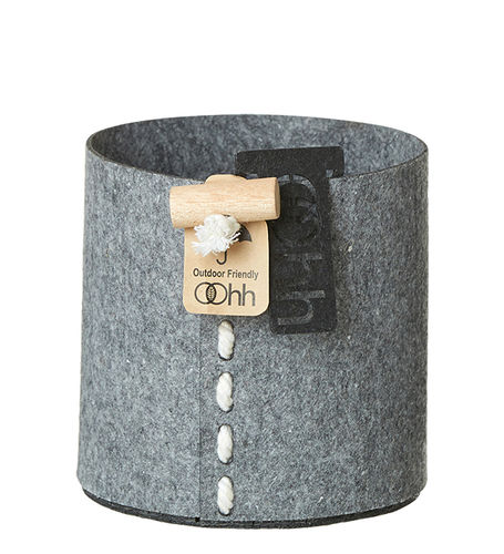 Eco-Filz-Korb, grey, outdoor, 13cm x 13cm