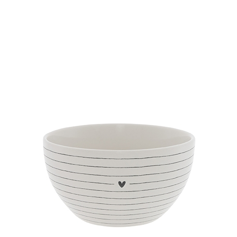 "Bowl ""Stripes &Heart"" Bastion Collection"