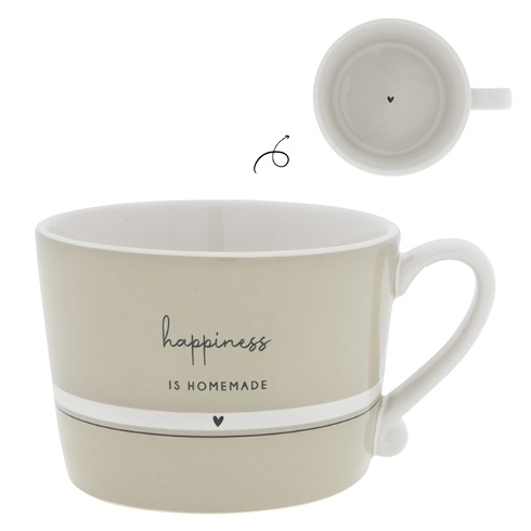 "Cup ""Happiness is homemade"" Bastion Collection,"